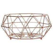 Vertex Fruit Basket Minimalist Design Copper Plated Finish