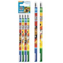 4 x PAW PATROL | HB Pencils with Eraser Tops