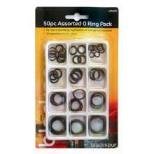 50 Piece Assorted O Ring Pack - Rubber Tap Sink 12 Washers Replacement Bath -  o rubber ring tap sink 12 washers assorted replacement bath basin taps