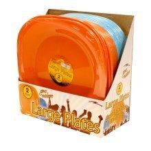 *large Plates 2pk -  pack ry689 boyz toys large 2 plastic plates 4 24cm food dinner serving camping bbqs