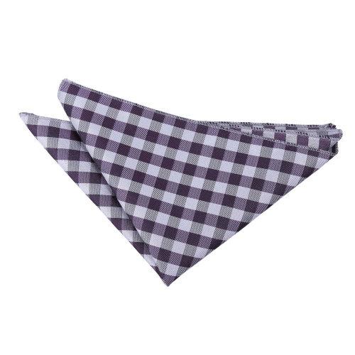Purple Gingham Check  Pocket Square