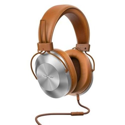 Pioneer SE-MS5T-T Over Ear Headphone with In-Line Microphone - Tan