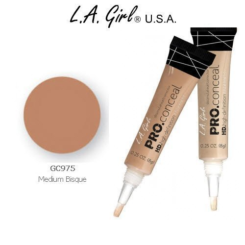 L.A. Girl Pro Conceal HD 975 Medium Bisque (2 Pack)