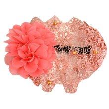 Beautiful Infant Baby Girl High Quaility Flowers Beads Hair Band Headband-Orange