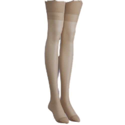 Trasparenze Sara All Sheer Stockings with Signature Logo (2 = 4ft 9in to 5ft 9in, Playa Beige)