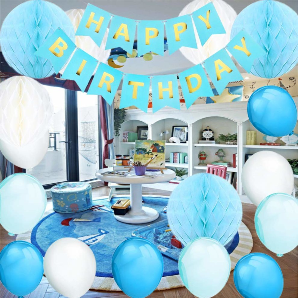 Celebrations Occasions 40th Birthday Decoration Balloons Paper Flowers Ball Ribbon Pack Bundle Set Party Supplies