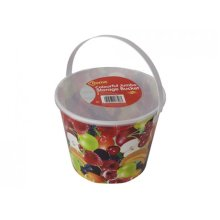 Jumbo Fruit Design Storage Bucket With Lid & Handle - Full Decal W & Food - Jumbo Fruit Design Full Decal Storage Bucket W Lid & Handle Food Storage