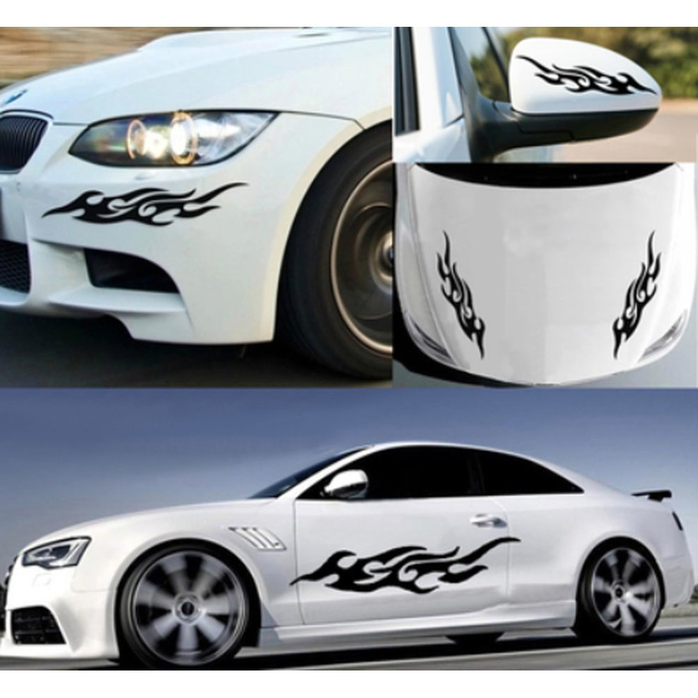 A pair of black custom car stickers cool car sticker design 1