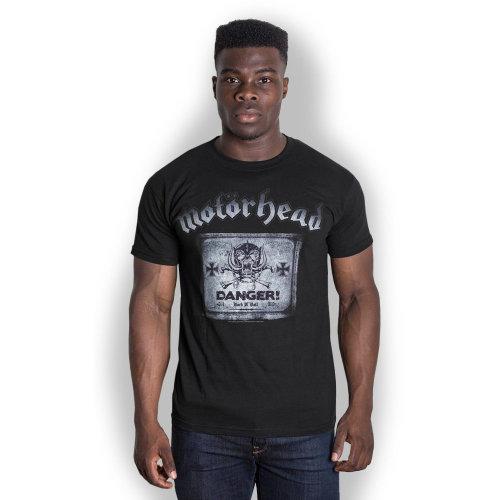Motorhead Men's Danger Short Sleeve T-shirt, Black, X-large -  motorhead danger tshirt new official