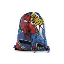 MARVEL SPIDERMAN DRAWSTRING BAG SUITABLE FOR P.E. SWIMMING ETC