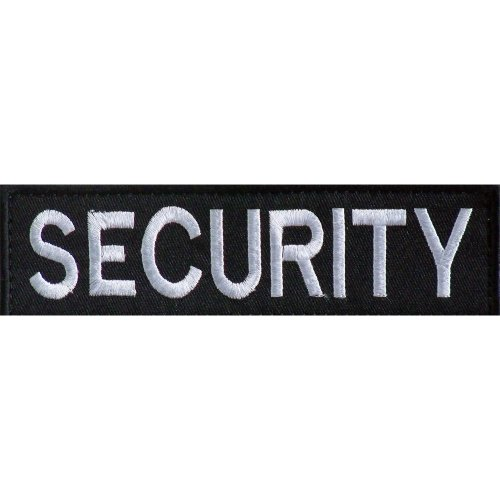 Embroidered SECURITY Patch -Black-10 x 3cm
