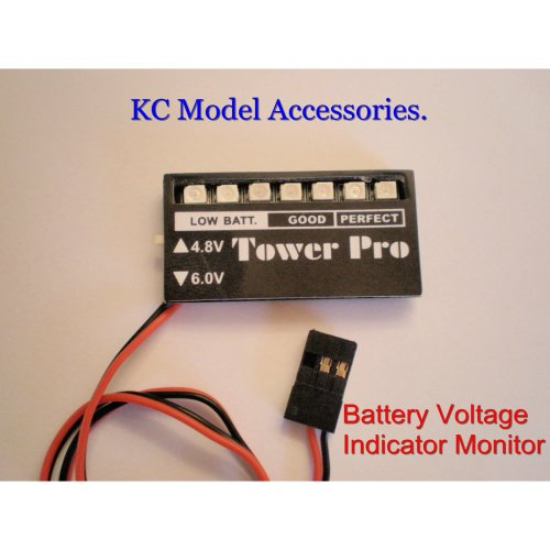 Receiver Battery Voltage Checker Indicator 4.8V 6.0V R/C UK Stock.