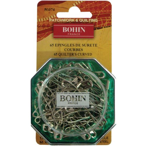 Bohin Curved Safety Pins-Size 2 65/Pkg