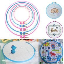 5 PCS Plastic Embroidery and Cross Stitch Hoop Set