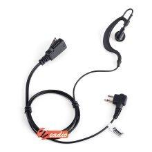 G Shape Earpiece Headset PTT for 2 PIN Motorola Radio