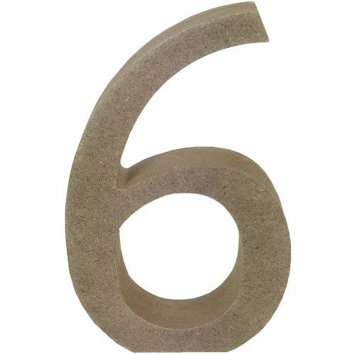 Smooth MDF Blank Shape-Serif Number 6