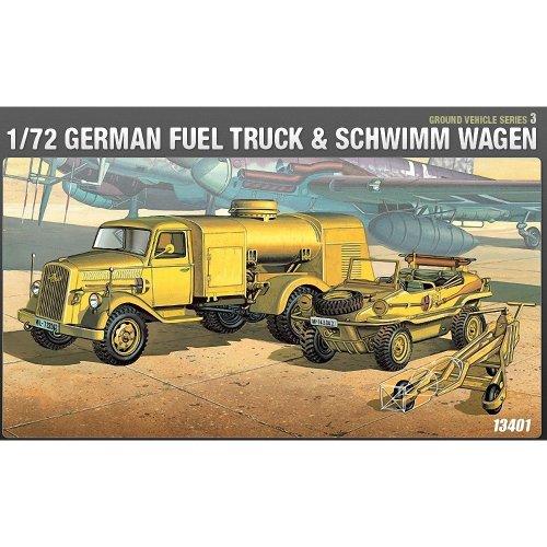 Aca13401 - Academy 1:72 - Wwii German Fuel Truck & Schwimwagen