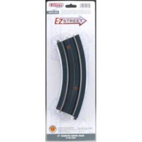 "Williams by Bachmann E-Z Street 16"" Diameter Curved Track 4 Per Card - O Scale"
