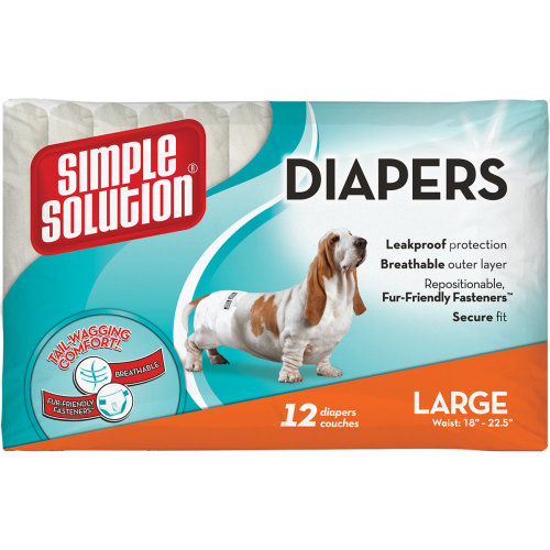 Simple Solution Disposable Diapers 12 Pack-Large