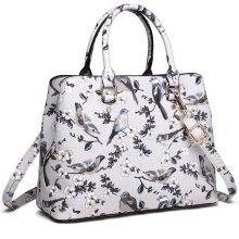 Miss Lulu Women Flower Bird Shoulder Handbag Bag Tote