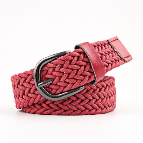 Faux leather belt High Quality Woman Fashion 2018 belt Weave Braided strap Wide waistband Luxury girdle for female jeans