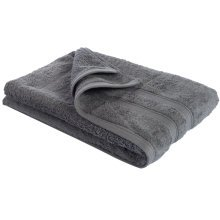 New Egyptian Cotton Soft High Quality Solid Color Washcloth Bath Towel Flannel, Dark Gray (34x75cm)