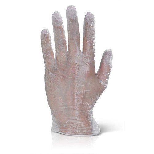 Click VDGL Vinyl Disposable Gloves Clear Large Box of 1000