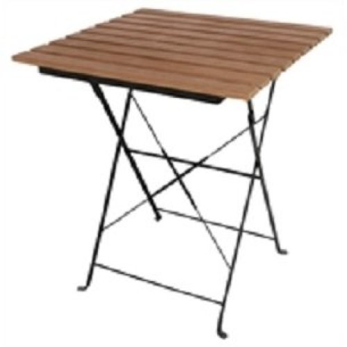 Rhine Faux Folding Wood Bistro Table - Square Indoor Outdoor Use