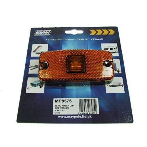 Lamp - 10-30v LED Side Marker & Reflex - Amber - Dp - Amber Mp8575 Maypole -  amber led side marker mp8575 lamp maypole 1030v new