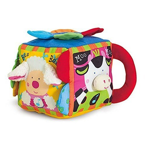 Melissa and Doug Musical Farmyard Cube Learning Toy