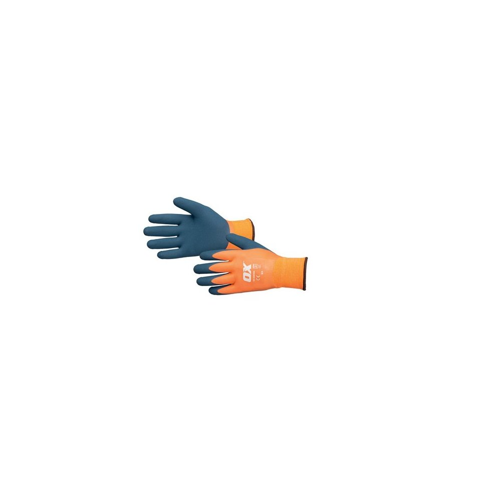 Scan Waterproof Latex Gloves Size 9 Large Business & Industrial