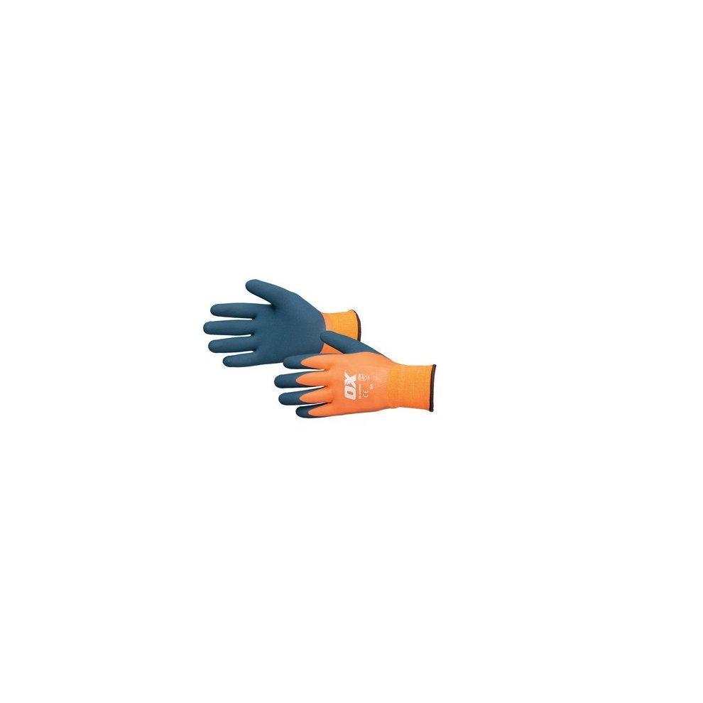 Scan Waterproof Latex Gloves Size 9 Large Gardening Gloves Home & Garden