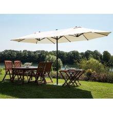 Large Garden Parasol - Double Canopy Umbrella 460 cm - SIBILLA