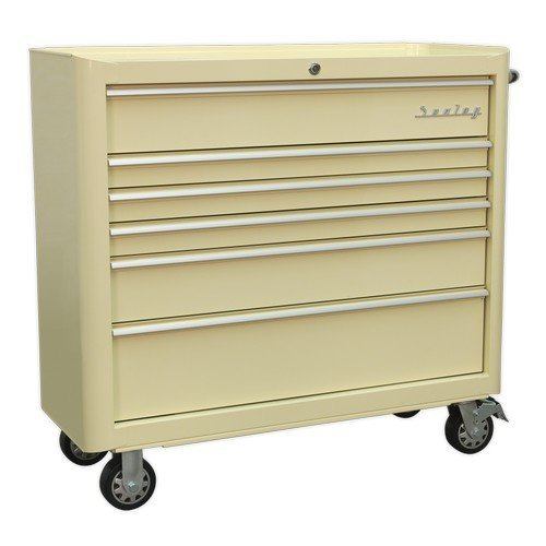 Sealey AP41206 Rollcab 6 Drawer Wide Retro Style - Cream