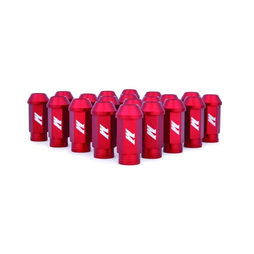 Mishimoto MMLG-125-LOCKRD  Aluminium Locking Lug Nuts, M12 x 1.25, Red