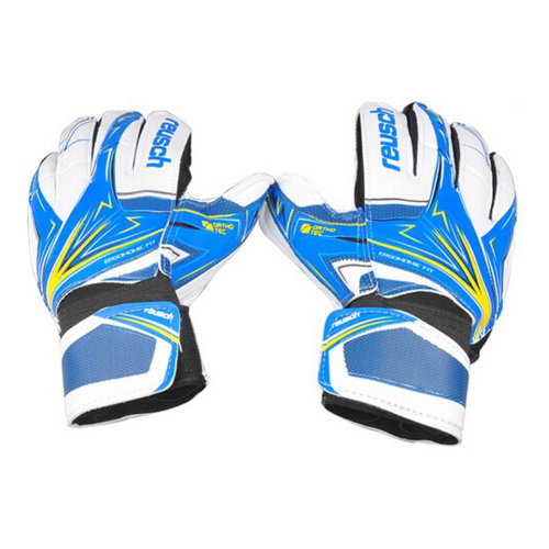 High-quality Latex Football Receiver Gloves for Adults, (White/Blue, L)