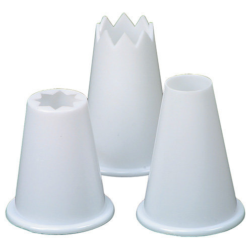 Rushbrookes Food piping nozzles, plastic (set/3)