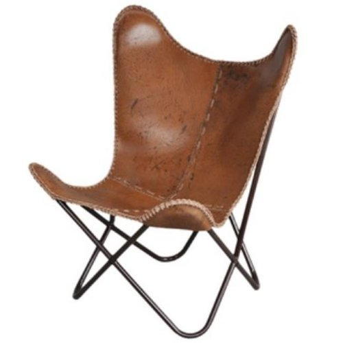 FASHION N YOU H-1148 Anti-Brown Leather Butterfly Chair