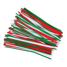 120 Christmas Pipe Cleaners 30cm x 6mm
