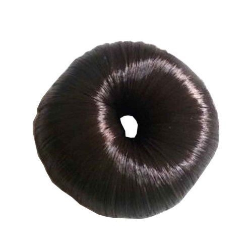 Set of 2 Fake Hair Buns, Hair Donut, Easy to Wear [Dark Brown]