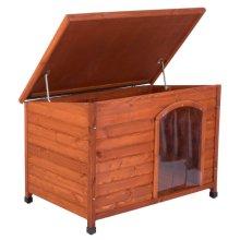 Premium Flat-Roofed Dog Kennel