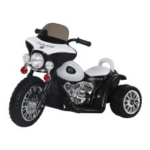 (Black) Homcom Kids' Electric Motorbike Ride-On Toy