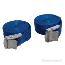 Silverline Cam Buckle Tie Down Strap 2.5m x 25mm 2pk 2.5m x 30mm - Straps -  x straps 25mm buckle cam tie down silverline buckled pack 449682 set roof