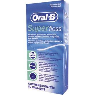 3 X Oral -B Super Floss 50 PRE-CUT STRANDS, Dental Floss