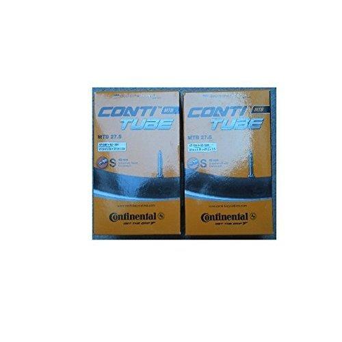 "Continental mTB 27,5 ""hOSE, 2 pièces, sS valve 47-584 â†' 62-584 42 mm (1 â†' .75 27,5 x 27,5 x 2 .5 0182311)"