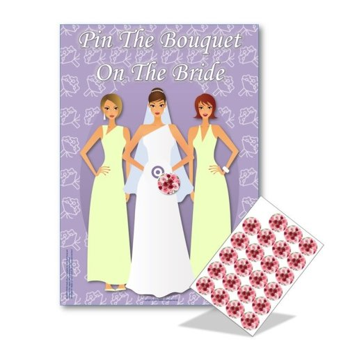 Pin the Bouquet on the Bride   Hen Party Game