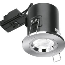 Aurora Fixed Position Downlight  En-fd101pc Polished Chrome