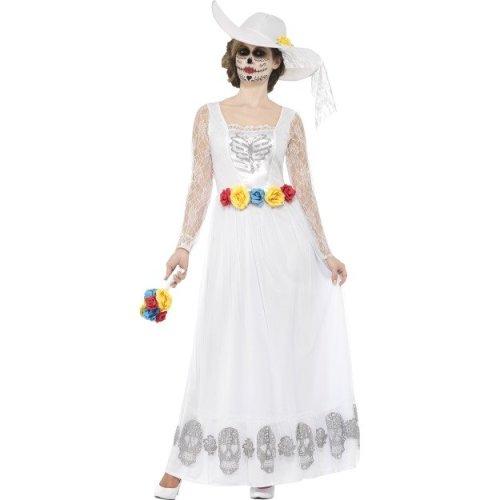 d497825a61 Smiffy's 44657x1 Women's Day Of The Dead Skeleton Bride Costume (x-large) -  costume day dead skeleton bride fancy dress ladies halloween womens on OnBuy