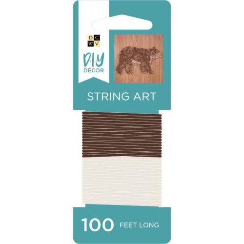 String Art String 100Yds-Brown/Cream
