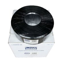 LMS Data CR-59 RG59 Shotgun Cable Video/Power Reel, 100m, Black (C-R59PW-100)